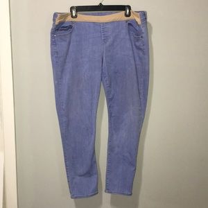 GAP 1969 light wash maternity jean legging 34/18r
